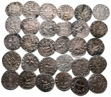 Lot of ca. 30 medieval denier / SOLD AS SEEN, NO RETURN!very fine