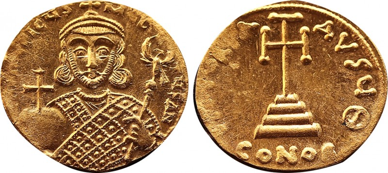 Byzantine Philippicus (Bardanes) AV Solidus. Constantinople, AD 711-713. D N FIL...