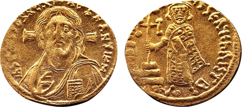 Justinian II AV Solidus. First reign. Constantinople, AD 692-695. IҺS CRISτOS RЄ...