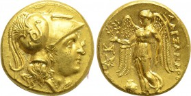 KINGS OF MACEDON. Alexander III 'the Great' (336-323 BC). GOLD Stater. Abydos.