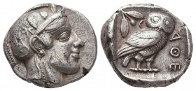 ATTICA. Athens. Circa 470-465 BC. RARE Transitional issue