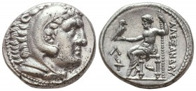 KINGDOM of MACEDON. Alexander III 'the Great',327-323 BC. AR Tetradrachm  Condition: Very Fine  Weight: 17,2 gram Diameter: 26,3 mm