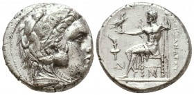 KINGDOM of MACEDON. Alexander III 'the Great',327-323 BC. AR Tetradrachm  Condition: Very Fine  Weight: 16,8 gram  Diameter: 24,5 mm