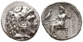 KINGDOM of MACEDON. Alexander III 'the Great',327-323 BC. AR Tetradrachm  Condition: Very Fine  Weight: 17 gram Diameter: 27,3 mm