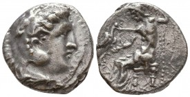 KINGDOM of MACEDON. Alexander III 'the Great',327-323 BC. AR Tetradrachm  Condition: Very Fine  Weight: 16,8gram Diameter: 25,1 mm