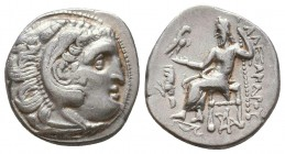 KINGDOM of MACEDON. Alexander III 'the Great',327-323 BC. AR Drachm  Condition: Very Fine  Weight: 4.1 gram Diameter: 18,1 mm