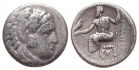 KINGDOM of MACEDON. Alexander III 'the Great',327-323 BC. AR Drachm  Condition: Very Fine  Weight: 4,2 gram Diameter: 16,2 mm