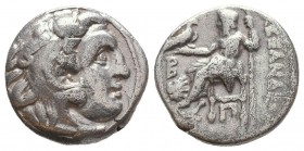 KINGDOM of MACEDON. Alexander III 'the Great',327-323 BC. AR Drachm  Condition: Very Fine  Weight: 4,0 gram Diameter: 15,9 mm