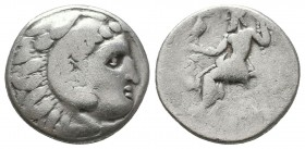 KINGDOM of MACEDON. Alexander III 'the Great',327-323 BC. AR Drachm  Condition: Very Fine  Weight: 4,1 gram Diameter: 17,2 mm