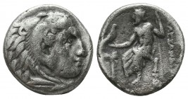 KINGDOM of MACEDON. Alexander III 'the Great',327-323 BC. AR Drachm  Condition: Very Fine  Weight: 4,2 gram Diameter: 16,6 mm