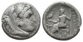 KINGDOM of MACEDON. Alexander III 'the Great',327-323 BC. AR Drachm  Condition: Very Fine  Weight: 3,9 gram Diameter: 16,2 mm