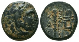 KINGDOM of MACEDON.Alexander III 'the Great',327-323 BC. Ae  Condition: Very Fine  Weight: 7,9 gram Diameter: 18,6 mm