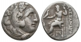 KINGDOM of MACEDON. Alexander III 'the Great',327-323 BC. AR Drachm  Condition: Very Fine  Weight: 4,4 gram Diameter: 15,8 mm