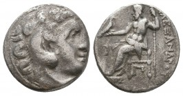 KINGDOM of MACEDON. Alexander III 'the Great',327-323 BC. AR Drachm  Condition: Very Fine  Weight: 3,8 gram Diameter: 16,9 mm