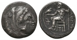 KINGDOM of MACEDON. Alexander III 'the Great',327-323 BC. AR Drachm  Condition: Very Fine  Weight: 3,9 gram Diameter: 17,2 mm