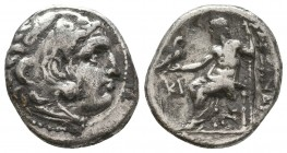KINGDOM of MACEDON. Alexander III 'the Great',327-323 BC. AR Drachm  Condition: Very Fine  Weight: 4,0 gram Diameter: 18,0 mm