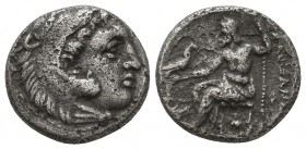 KINGDOM of MACEDON. Alexander III 'the Great',327-323 BC. AR Drachm  Condition: Very Fine  Weight: 4,0 gram Diameter: 16,2 mm