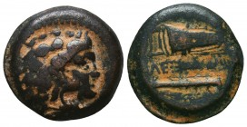 KINGDOM of MACEDON. Alexander III 'the Great',327-323 BC. Ae  Condition: Very Fine  Weight: 8,1 gram Diameter: 21,7 mm