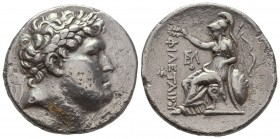 Mysia, Tetradrachm,Pergamon, Eumenes I (263-241), c. 255-241 BC, AR, Laureate head of Philaeterus r., Rv. ΦIΛETAIPOY, Athena seated l., holding shield...