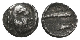 Greek Obol, Ca. 350-300 BC. AR  Condition: Very Fine  Weight: 0,7 gram Diameter: 9,5