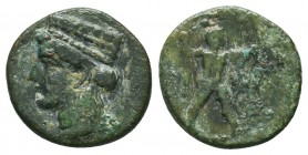 Greek Obol, Ca. 350-300 BC. AR  Condition: Very Fine  Weight: 0,6 gram Diameter: 11,2