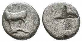 Byzantion , Thrace. AR c. 340-320 BC.  Condition: Very Fine  Weight: 2,2 gram Diameter: 12,8