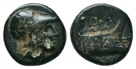 KINGS OF MACEDON. Demetrios I Poliorketes, 306-283 BC. AE  Condition: Very Fine  Weight: 1,8 gram Diameter: 11,3