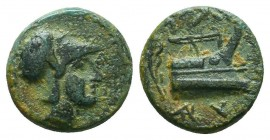 KINGS OF MACEDON. Demetrios I Poliorketes, 306-283 BC. AE  Condition: Very Fine  Weight: 1,6 gram Diameter: 11,6