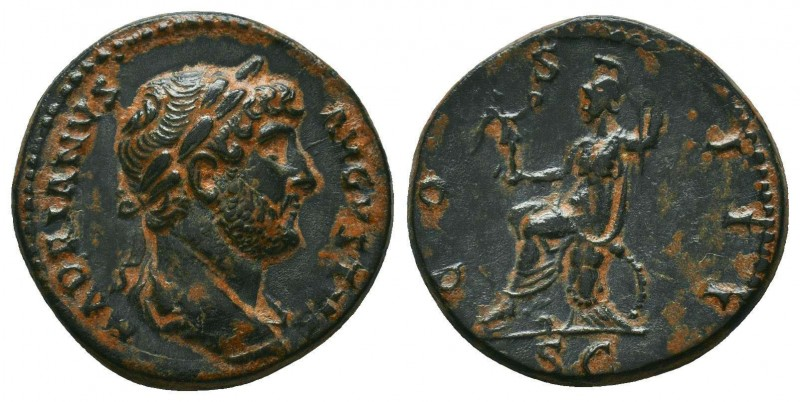 Hadrian, 117 - 138 AD AE   Condition: Very Fine  Weight: 3,6 gram Diameter: 18,9