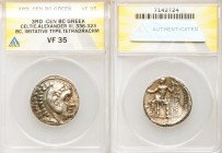 DANUBE REGION. Balkan Tribes. Imitating Alexander III the Great. Ca. 3rd-2nd centuries BC. AR tetradrachm (25mm, 12h). ANACS VF 35. Celtic issue imita...