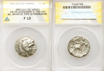 DANUBE REGION. Balkan Tribes. Imitating Alexander III the Great. Ca. 3rd-2nd centuries BC. AR tetradrachm (25mm, 1h). ANACS Fine 15. Celtic issue imit...