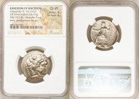 MACEDONIAN KINGDOM. Alexander III the Great (336-323 BC). AR tetradrachm (24mm, 16.94 gm, 12h). NGC Choice VF 4/5 - 4/5. Early posthumous issue of Tyr...