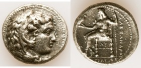 MACEDONIAN KINGDOM. Alexander III the Great (336-323 BC). AR tetradrachm (26mm, 16.72 gm, 5h). VF, brushed. Posthumous issue of 'Babylon', ca. 323-317...