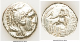 MACEDONIAN KINGDOM. Alexander III the Great (336-323 BC). AR tetradrachm (26mm, 16.88 gm, 3h). VF, porosity. Early posthumous issue of Amphipolis, ca....