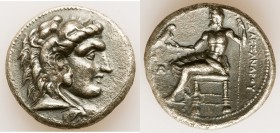 MACEDONIAN KINGDOM. Alexander III the Great (336-323 BC). AR tetradrachm (26mm, 16.76 gm, 11h). XF, light porosity. Late lifetime-early posthumous iss...