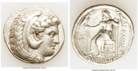 MACEDONIAN KINGDOM. Alexander III the Great (336-323 BC). AR tetradrachm (27mm, 17.09 gm, 1h). VF, graffiti. Late lifetime-early posthumous issue of A...