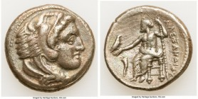 MACEDONIAN KINGDOM. Alexander III the Great (336-323 BC). AR tetradrachm (26mm, 16.9 gm, 6h). VF. Late lifetime or early posthumous issue of Amphipoli...