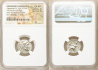 MACEDONIAN KINGDOM. Alexander III the Great (336-323 BC). AR drachm (17mm,4.32gm 1h). NGC Choice XF. Posthumous issue of Abydus, ca. 310-301 BC. Head ...