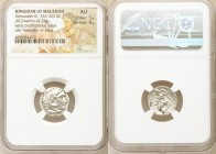 MACEDONIAN KINGDOM. Alexander III the Great (336-323 BC). AR drachm (17mm, 4.33 gm, 11h). NGC AU 5/5 - 4/5. Early posthumous issue of Colophon, ca. 32...