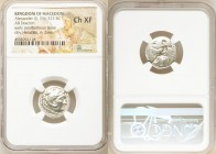 MACEDONIAN KINGDOM. Alexander III the Great (336-323 BC). AR drachm (17mm, 6h). NGC Choice XF. Posthumous issue of Lampsacus, ca. 310-301 BC. Head of ...