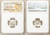 MACEDONIAN KINGDOM. Alexander III the Great (336-323 BC). AR drachm (16mm, 1h). NGC Choice XF. Early posthumous issue of Colophon, under Philip III Ar...