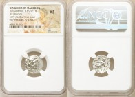 MACEDONIAN KINGDOM. Alexander III the Great (336-323 BC). AR drachm (15mm, 1h). NGC XF. Early posthumous issue of Sardes, ca. 323-319 BC. Head of Hera...