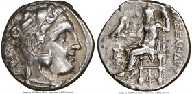 MACEDONIAN KINGDOM. Alexander III the Great (336-323 BC). AR drachm (16mm, 11h). NGC XF, marks. Posthumous issue of Colophon, ca. 319-310 BC. Head of ...