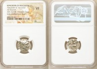 MACEDONIAN KINGDOM. Alexander III the Great (336-323 BC). AR drachm (16mm, 11h). NGC VF. Early posthumous issue of Lampsacus, ca. 323-317 BC. Head of ...