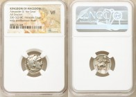 MACEDONIAN KINGDOM. Alexander III the Great (336-323 BC). AR drachm (16mm, 1h). NGC VF. Early posthumous issue of Lampsacus, ca. 323-317 BC. Head of H...