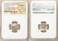 MACEDONIAN KINGDOM. Alexander III the Great (336-323 BC). AR drachm (16mm, 1h). NGC VF. Posthumous issue of Miletus, ca. 300-295 BC. Head of Heracles ...