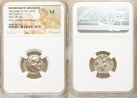 MACEDONIAN KINGDOM. Alexander III the Great (336-323 BC). AR drachm (17mm, 11h). NGC VF. Posthumous issue of Abydus, ca. 310-297 BC. Head of Heracles ...