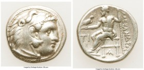MACEDONIAN KINGDOM. Alexander III the Great (336-323 BC). AR drachm (15mm, 4.23 gm, 11h). VF. Early posthumous issue of Sardes, ca. 323-319 BC. Head o...
