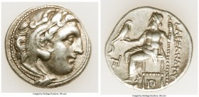 MACEDONIAN KINGDOM. Alexander III the Great (336-323 BC). AR drachm (17mm, 4.24 gm, 12h). Choice VF, light scratch. Posthumous issue of Colophon, ca. ...