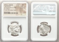 ATTICA. Athens. Ca. 440-404 BC. AR tetradrachm (23mm, 17.20 gm, 10h). NGC MS 5/5 - 4/5. Mid-mass coinage issue. Head of Athena right, wearing crested ...